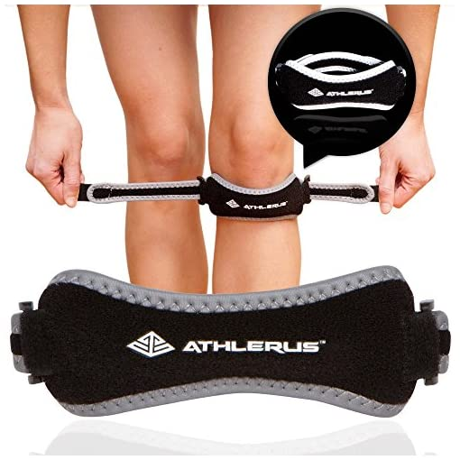 Athlerus Reflective Patellar Tendon Support Strap Knee Pain Relief