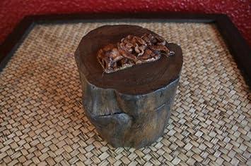 Elefanten Box Schmuckbox Schatulle Schatzkiste Truhe Massiv Holz Teak Thailand