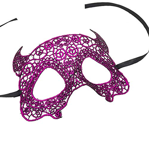 DJBM Gorgeous Venetian Masquerade Masks Party Costumes Accessory Purple A for $<!--$7.88-->