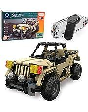 MOTION Kids Toys Educational Remote Control Building Bricks kit (Military Car)