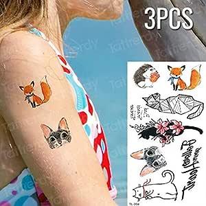 Handaxian 3 Piezas Etiqueta engomada del Tatuaje Chino carácter ...