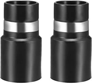 uxcell Central Vacuum Cleaner Hose Adapter Connector 32mm Plastic Black 2Pcs