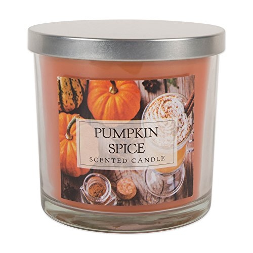 Home Traditions 3-Wick Evenly Burning Highly Scented 4x4 Large Jar Candle with 40+ Hour Burn Time (14.5 Oz) - Pumpkin Spice