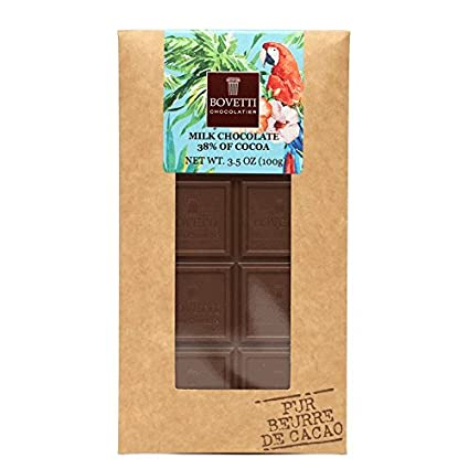 bovetti Organic Chocolate con leche belga Bar, 100 g: Amazon ...