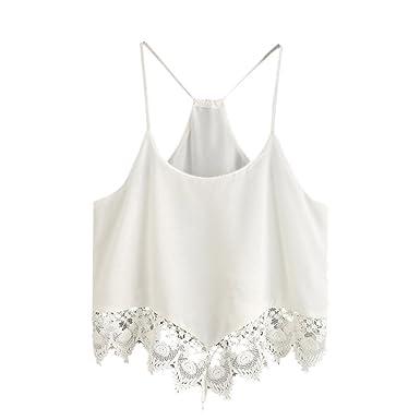 92a510ea193e Hengshikeji Clearance Women Stripe Tank Crop Tops Casual Sleeveless Blouse  Teen Girls Cami Shirts Tops Vest Tunic for Summer at Amazon Women's Clothing  ...