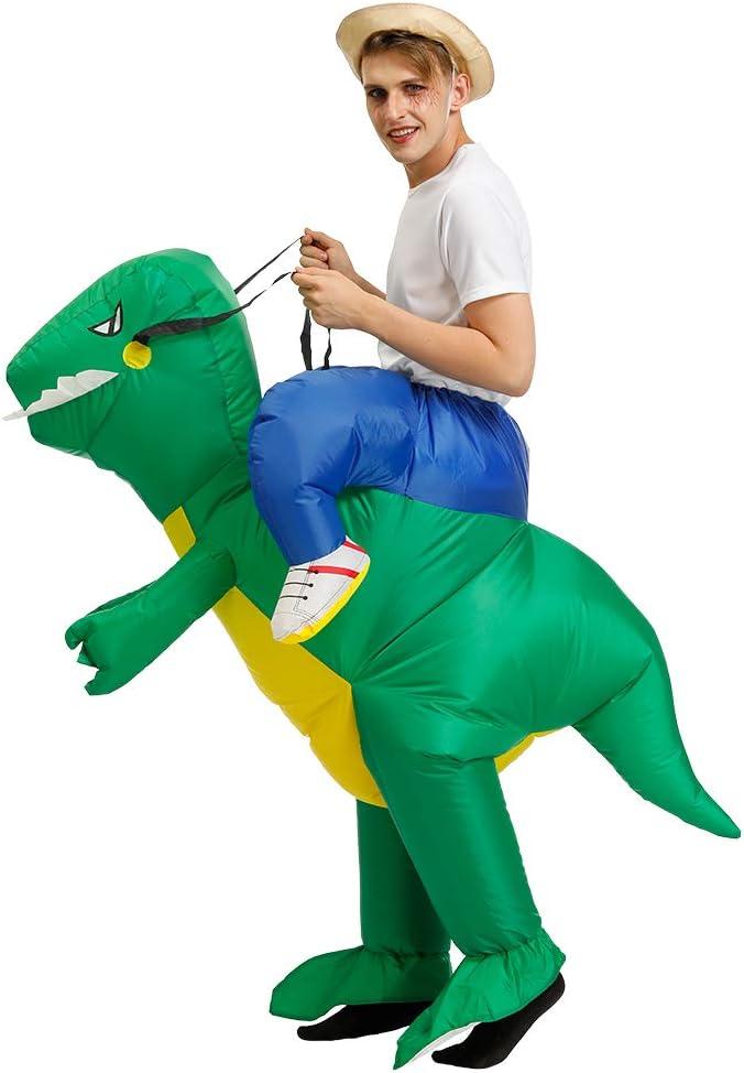 Dinosaurio inflable Montando un dinosaurio Disfraz inflable de Halloween