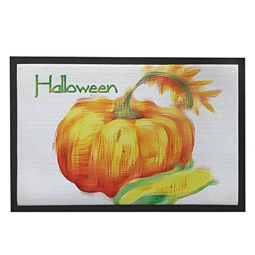 Halloween Doormat with Pumpkin Decor for Sweet Home Entrance Door Mat Indoor Outdoor Welcome Floor Mats Halloween Doormat Gifts 23.6 x 15.7 Inch Modern Doormats for Halloween (Halloween Decorations Recycled)