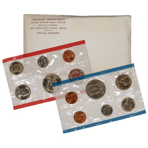 1971 United States Mint Uncirculated Coin Set in Original Government Packaging