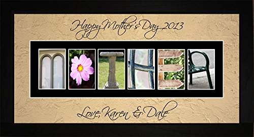 Personalized Art - Mother Alphabet Birthday Mothers Day Wall Art Gift
