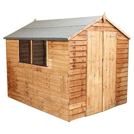 ESCAPE 8 x 6 superposición valor Apex de madera jardín cobertizo con 2 ventanas y puertas