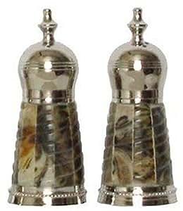 Salt & Pepper Shakers w/ Spiral Horn Sides - Spiral Horn