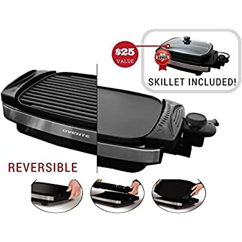 Amazon Com Ovente Reversible Electric Grill And Heat