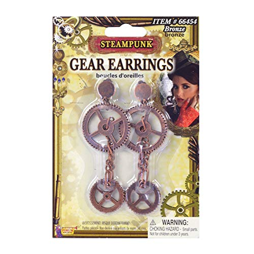 Forum Novelties Steampunk Gear Earrings