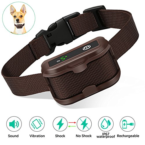 Bark Collar Rechargeable with Smart Detection Barking Technology(No Harm Shock Beep and Vibration)IP67 Waterproof for Small Medium Large Dog Casifor …