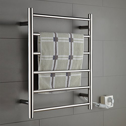 ONDA Warmer Towel Warmer Stainless Steel Wall Mounted Heated 6 Bars (Stainless Steel Heated Towel)