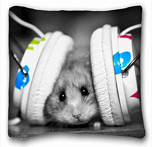 custom-animals-mouse-headphones-listen-popular-16x16-inch-one-side-pizza-rectangle-pillowcase-suitab
