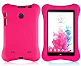 Bolete LG G Pad 7.0 EVA Case - Ultra Light Weight Shock Proof Convertible Kids Friendly for LG G Pad V410 (LTE) V400 VK410 UK410 (G Pad F7.0) 7-Inch Android Tablet(Rose)