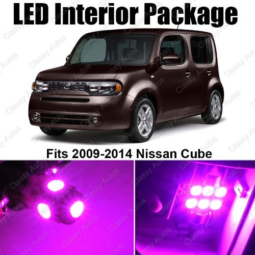 Classy Autos Nissan Cube PINK Interior LED Package (5 Pieces) (Nissan Cube Parts)