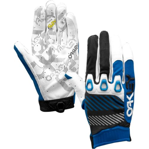 Oakley Automatic 2 Men's Off-Road Motorcycle, Mountain Bike & BMX Gloves - Blue Line / Medium