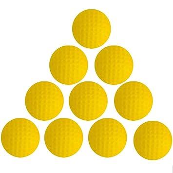 Práctica pelotas de golf, reekey 20 unidades pelotas de golf (piel sintética de espuma esponja interior práctica equipo (amarillo): Amazon.es: Deportes y ...