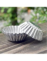 Get Chrysanthemum Heat Resistant Tart Tins Cake Cups Tart Pudding Jello Mold Mould 100pieces online