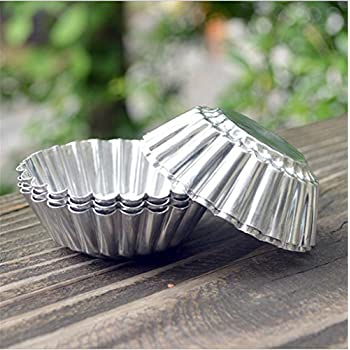 Chrysanthemum Heat Resistant Tart Tins Cake Cups Tart Pudding Jello Mold Mould 2.5inch 100pieces