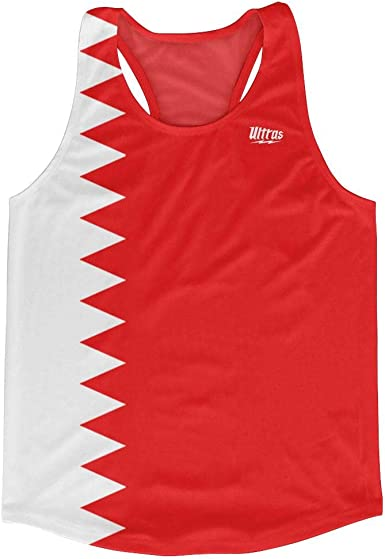 Bahrain Country Flag Running Tank Top Racerback Track And Cross