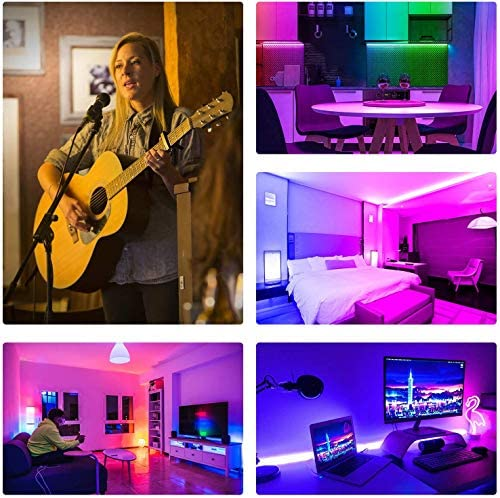 Led Strip Lights 32.8 Feet,ehomful 5050 Type Color Changing 44 Keys Remote Control Led Lights for Bedroom,Room,Kitchen and Party Decorations