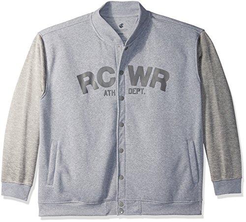 (Rocawear Men's Big-Tall Mr Sosa Marl Fleece Jacket, Heather Grey, 3X )