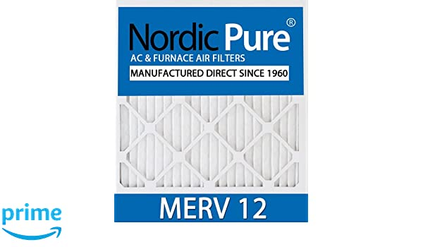 nordic pure 20x22x1 merv 12 ac furnace filters qty 6 - replacement ...
