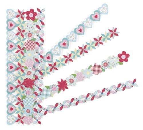 Adhesive Border Stickers - Martha Stewart Crafts Die-cut Border Stickers, Stitched