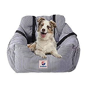 BLOBLO Dog Car Seat Pet Booster Seat Pet Travel Safety Car Seat Dog Bed for Car with Storage Pocket 104