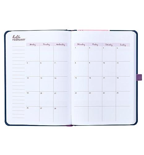 Agenda semanal escolar 2017-18 Busy B de 17 meses que contiene una sección de notas desechables