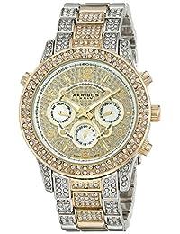 Akribos XXIV Women's AK776TTG Analog Display Swiss Quartz Two Tone Watch