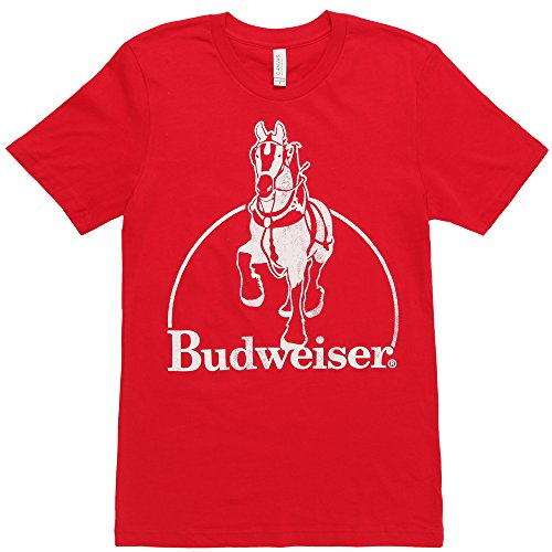 Budweiser Vintage Clydesdale Adult T-Shirt - Red (Large)