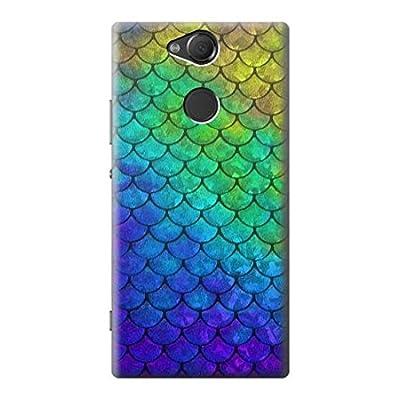 Innovedesire Mermaid Fish Scale Etui Coque Housse pour Sony Xperia XA2