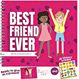 BEST FRIEND GIFTS - Recognition Award for Being an Awesome Best Friend. Funny & Unique Booklet for Your Bestie with Stickers and Matching Card Included!