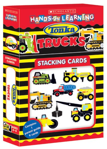 Tonka Construction Trucks Stacking Cards (Scholastic Hands-On Learning)