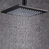 Ollypulse 12 Inch Square Ceiling Wall Mount Stainless Steel Rain Shower ...