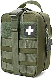 Molle Ifak Pouch Rip Away, Molle Medical Pouch Od Green, Tactical Duty Belt First Aid Pouch Empty for Hiking S