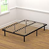 Handy Living Platform Bed Frame - Wooden Slat Mattress Foundation/Box Spring Replacement, Full