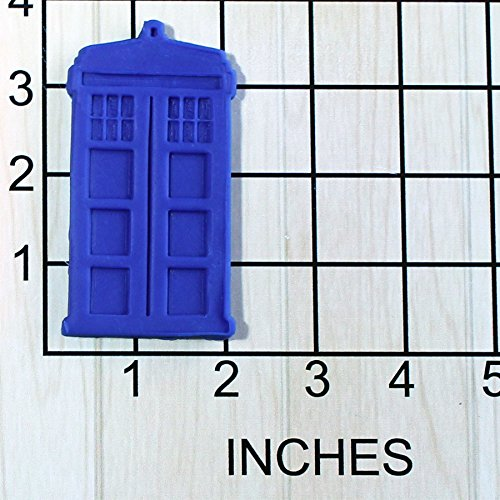 London Phone Booth Shaped Cookie Cutter and Stamp #1485 (Doctor Who Baking Mold)