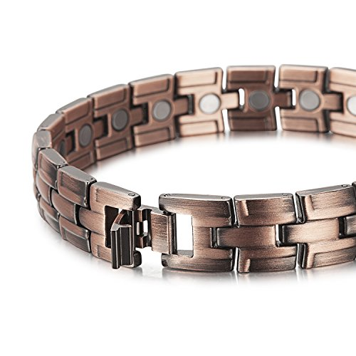 Rainso Elegant Pure Copper Magnetic Therapy Bracelet Bangle Pain Relief for Arthritis Wristband Adjustable (copper bracelet) by Rainso (Image #3)