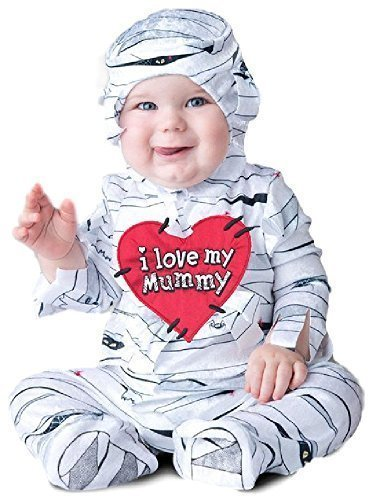 Baby Boys Girls Lovable Egyptian Mummy Sleepsuit Halloween Scary Horror Cute Fancy Dress Costume Outfit 6-24 mnths (18-24 months)]()