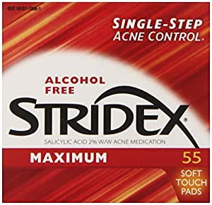 Stridex Triple Action Acne Pads 55-Count