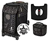 Zuca Sport Bag - Skulls with Gift Lunchbox and Seat Cover (Black Frame)