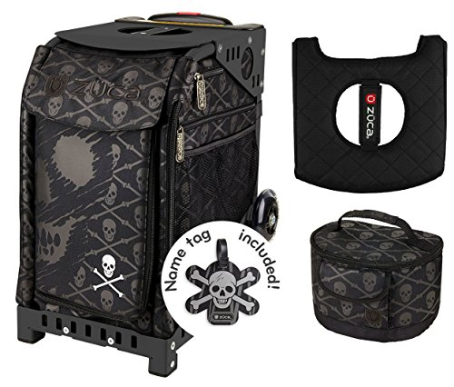 Zuca Sport Bag - Skulls with Gift Lunchbox and Seat Cover (Black Frame) by ZUCA