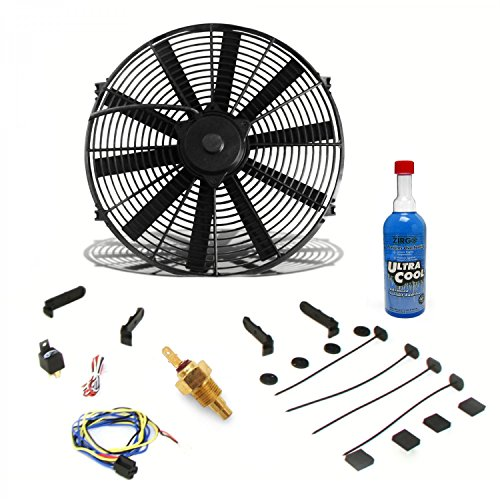 Zirgo 10273 Super Cool Pack (1248 fCFM 12'' Fan, Fixed Temp Switch, Harness, and Brackets and Additive) by Zirgo