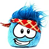 Disney Club Penguin 4 Inch Series 11 Online Exclusive Plush Puffle Blue with PLAID Bandana Includes Coin with Code!