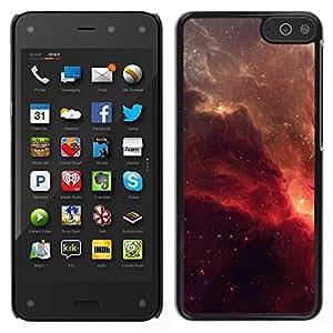 Caucho caso de Shell duro de la cubierta de accesorios de protección BY RAYDREAMMM - Amazon Fire Phone - Red Galaxy